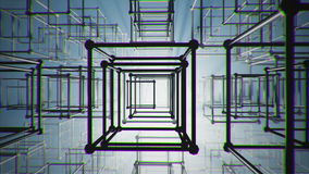 Kuber gör sammandrag konstruktion stock illustrationer