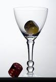 Kuber i exponeringsglas Arkivfoton