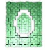 kuber letter gör o Royaltyfria Bilder