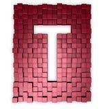 kuber letter gör t Royaltyfri Bild