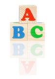 Kuber med bokstäver royaltyfri fotografi