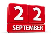 Kuber 22nd September royaltyfri illustrationer