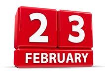 Kuber 23rd Februari stock illustrationer