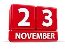 Kuber 23rd November stock illustrationer