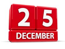 Kuber 25th December Arkivbilder