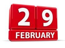 Kuber 29th Februari Arkivbilder
