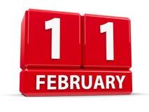 Kuber 11th Februari Arkivbilder