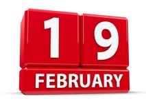 Kuber 19th Februari Royaltyfri Foto