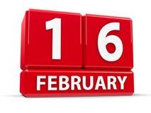 Kuber 16th Februari Arkivbild