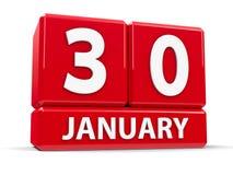 Kuber 30th Januari stock illustrationer