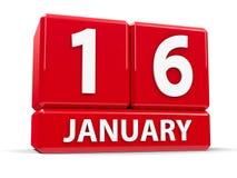 Kuber 16th Januari Royaltyfri Fotografi