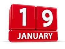 Kuber 19th Januari Royaltyfri Foto