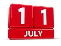 Kuber 11th Juli Arkivfoton