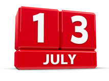 Kuber 13th Juli Royaltyfria Bilder