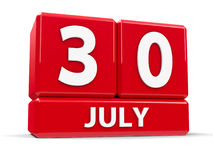 Kuber 30th Juli Arkivfoton