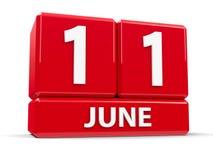 Kuber 11th Juni Royaltyfri Fotografi