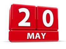 Kuber 20th May Vektor Illustrationer