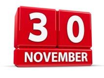 Kuber 30th November Arkivbild