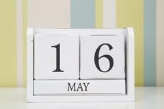 Kubformkalender för MAJ 16 Arkivfoton