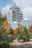 Kubhus är en uppsättning av innovativa hus Royaltyfri Bild