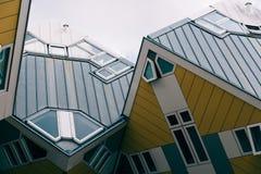 Kubhus i Rotterdam Royaltyfri Bild