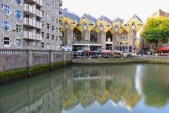 Kubhus, uppsättning av innovativa hus i Rotterdam Fotografering för Bildbyråer