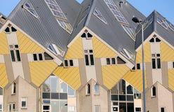 Kubhusen i Rotterdam, Nederländerna Arkivbild