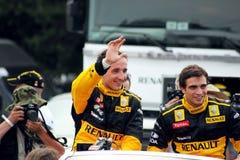 Kubica y d'Ambrosio - programas pilotos de Renault F1 fotografía de archivo