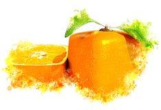 Kubiczna pomarańczowa świeżość obrazy royalty free