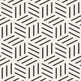 Kubiczna siatka Tafluje Niekończący się Elegancką teksturę czarny deseniowy bezszwowy wektorowy biel Obraz Stock