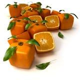 kubiczna tło pomarańcze Obraz Stock