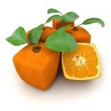 kubiczne grupowe pomarańcze Zdjęcia Royalty Free