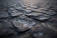 Kubiczny kamienny drogi zakończenie up obraz stock