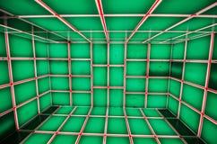 Kubiczny pokoju wzór w zielonym kolorze fotografia royalty free