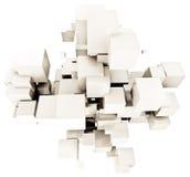 kubiczny tło biel Obrazy Stock