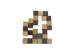 Kubiek hout Royalty-vrije Stock Afbeelding