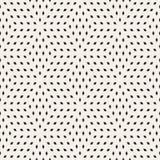 Kubiek Net die Eindeloze Modieuze Textuur betegelen Vector naadloos zwart-wit patroon stock illustratie