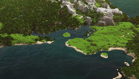 Kubiek overzees landschap Royalty-vrije Stock Afbeelding