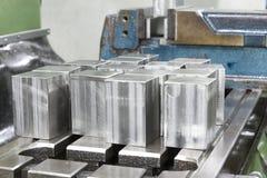 Kubiek roestvrij staal Stock Afbeelding