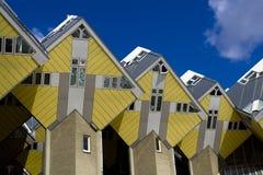 Kubieke huizen in Rotterdam Stock Afbeeldingen