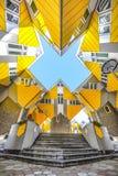 Kubieke huizen in Rotterdam Royalty-vrije Stock Afbeeldingen