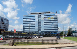 ` Kubik ` делового центра в бульваре Stroiteley Красногорск стоковое фото rf
