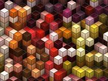 kubikbakgrund royaltyfri illustrationer
