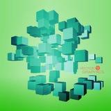 kubikdesign 3d Arkivfoto