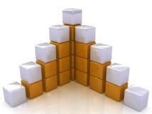 Kubikdiagrammstruktur Lizenzfreie Stockfotos