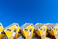 Kubikhäuser in Rotterdam die Niederlande lizenzfreies stockbild