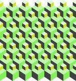 kubikillusionmodell Arkivbilder