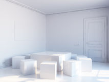 kubikinre white Royaltyfri Fotografi
