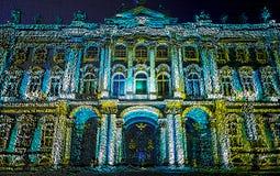 Kubikkunst Pixelreihe Quadrate bilden ein Foto der Einsiedlerei von St Petersburg picgture der Außenfassade der Einsiedlerei an vektor abbildung