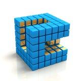 kubiknätverk Arkivfoto